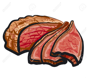 Roast Beef Sandwich Clipart.