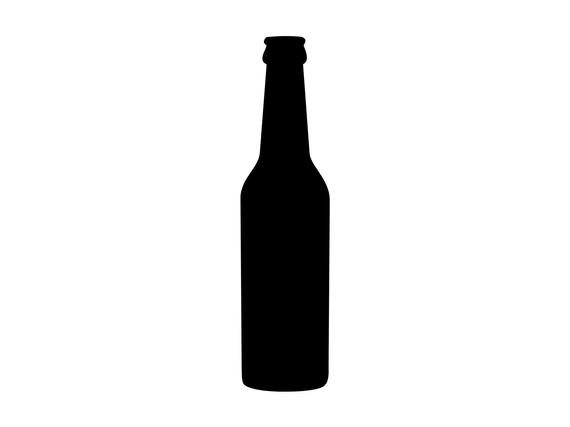 Beer Bottle Silhouette Cutting File Clipart Scrapbooking SVG DXF jpg png  psd Sure Cuts a Lot Inkscape, Photoshop Element Vector.