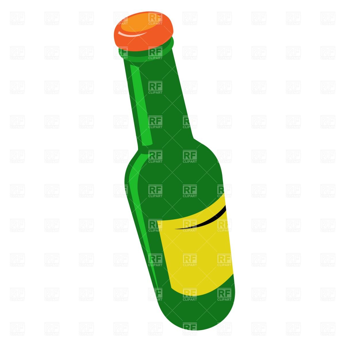 Tilted beer bottle Stock Vector Image.