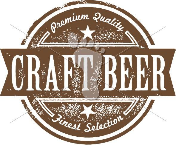 Premium Craft Beer Label.