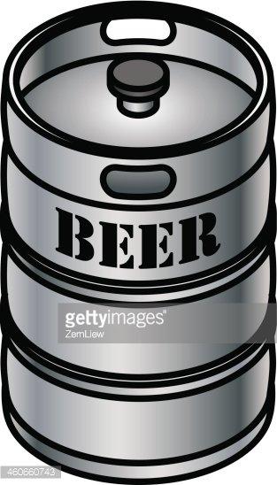 Beer Keg Clipart Image.