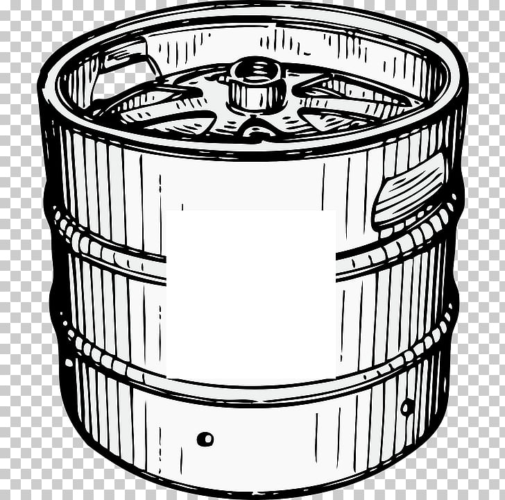 Beer Keg , white and black keg art PNG clipart.