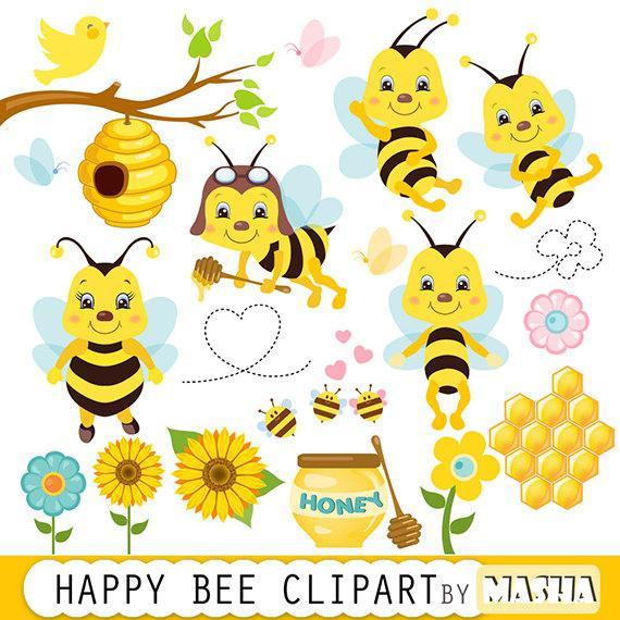 Honey bee clipart: