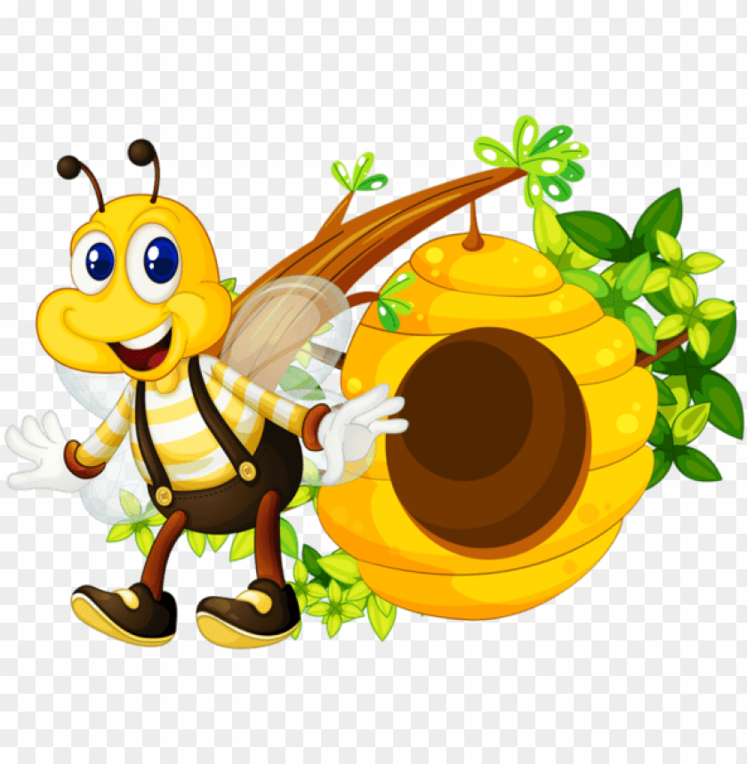 buzzy bumble bees clipart cute bee honey comb bee hive.