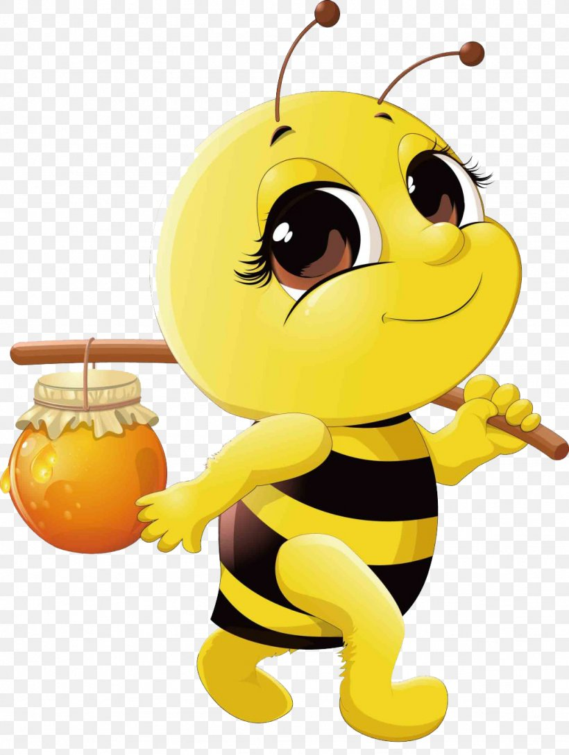 Honey Bee Cartoon Clip Art, PNG, 1024x1361px, Bee, Beehive.