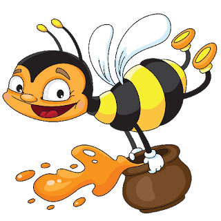 Cute Funny Bees.