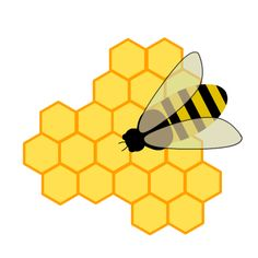 Bee And Honeycomb Clipart.