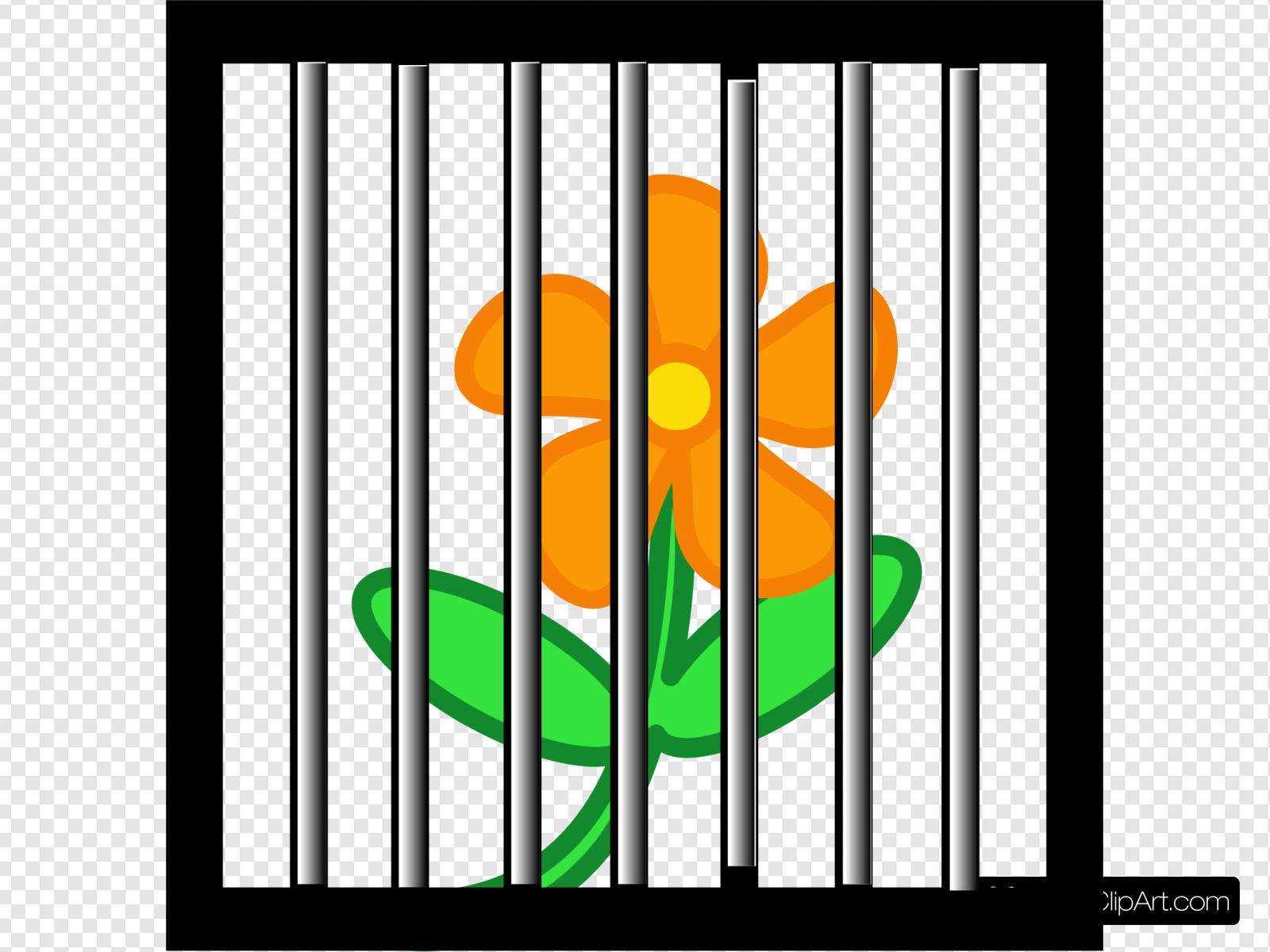 Flower Behind Bars Clip art, Icon and SVG.