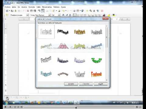 WORDART DE LIBRE OFFICE.