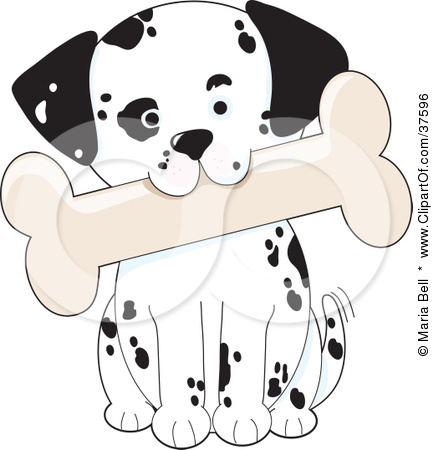 Clipart Illustration of a Cute Dalmatian Puppy Dog Tilting His.