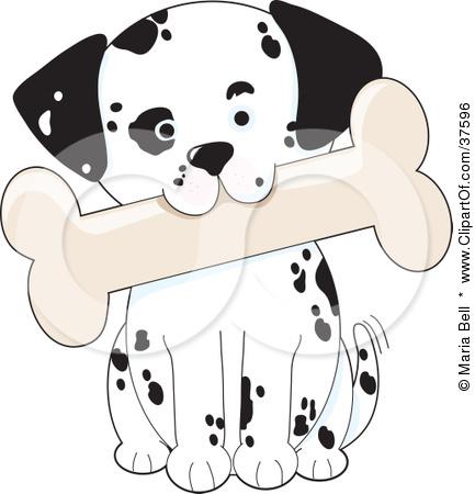 Clipart Illustration of a Cute Dalmatian Puppy Dog Tilting His.