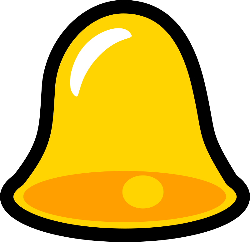 Free Clipart: Yellow Bell Icon that looks cool with lots of.