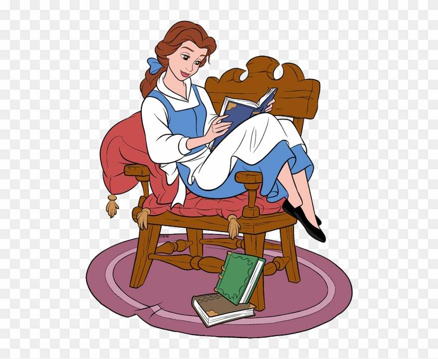 New Belle Reading Book In Chair.