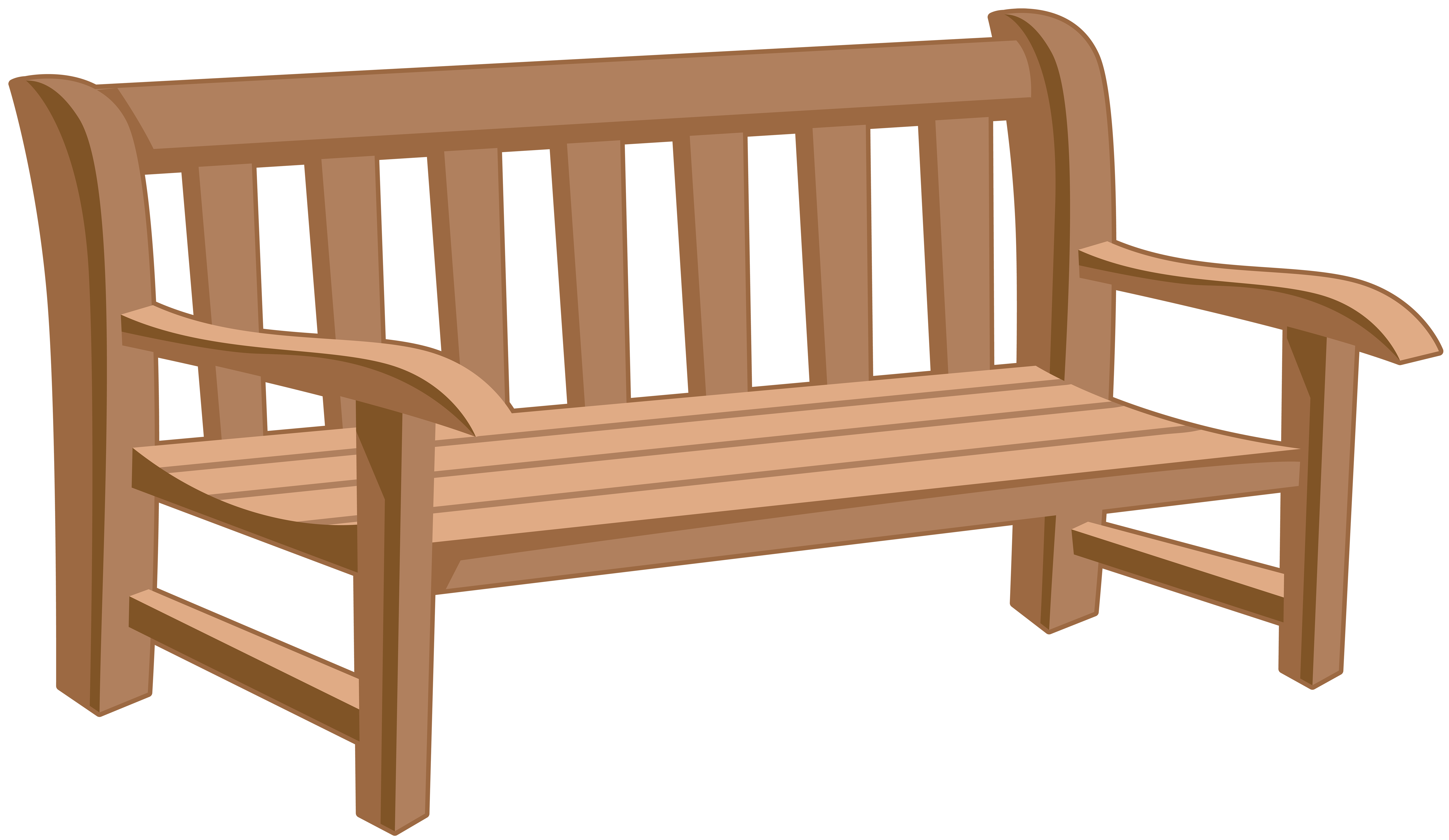 Park Bench PNG Clip Art Image.