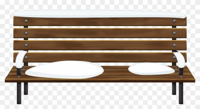 Winter Bench Png Clip Art Image.