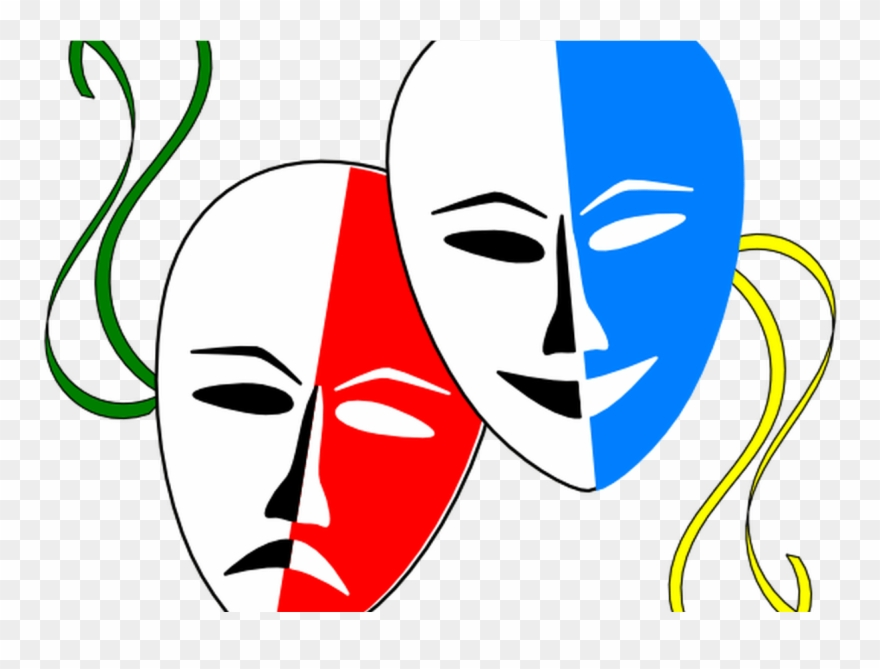 Cartoon Drama Masks Clipart Best.