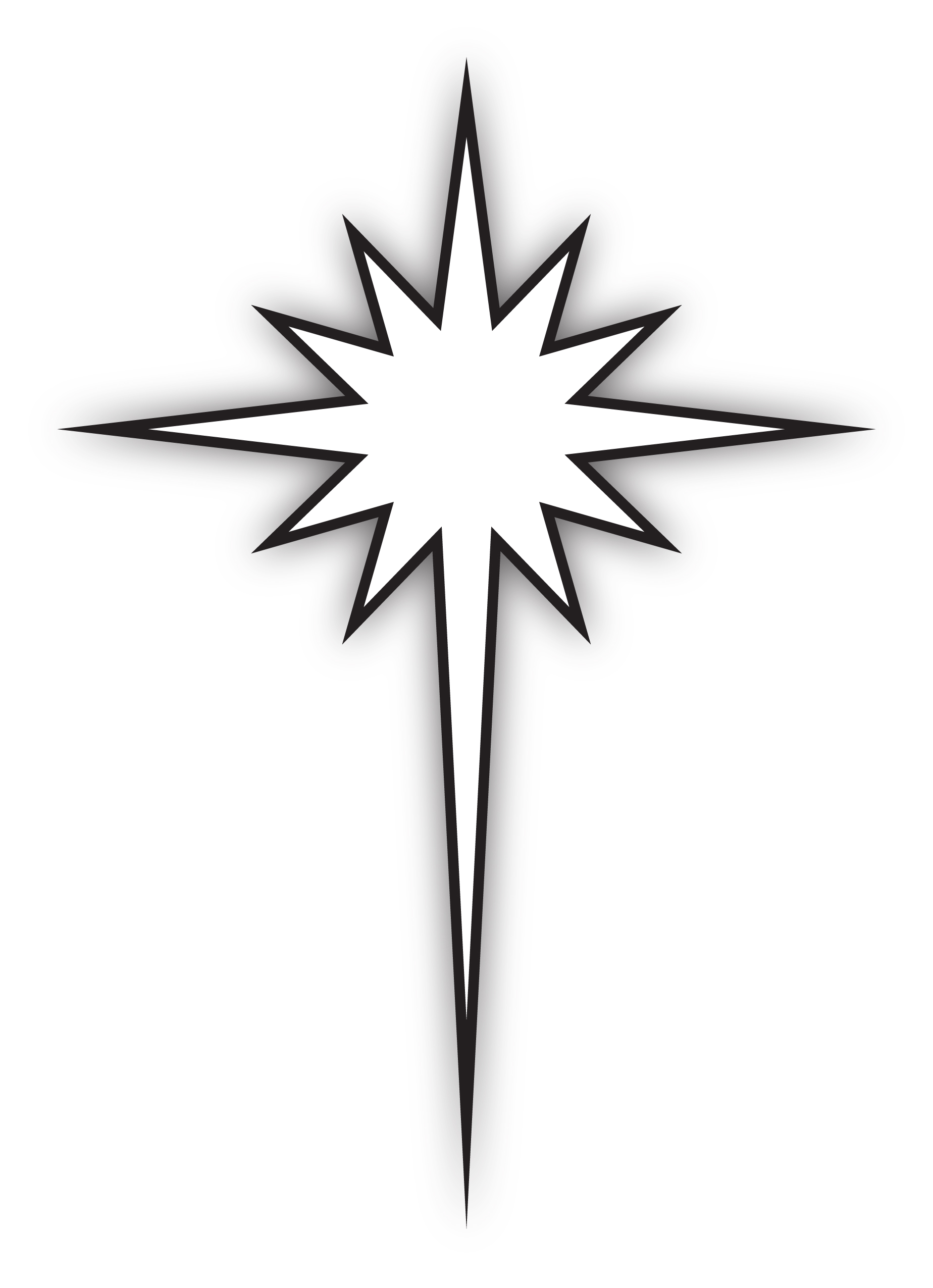 Free Star Of Bethlehem Clipart Black And White, Download.