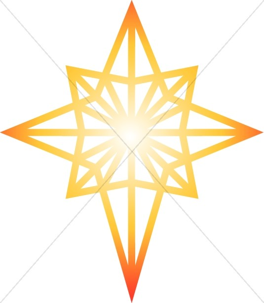 Glowing Star of Bethlehem Clipart.