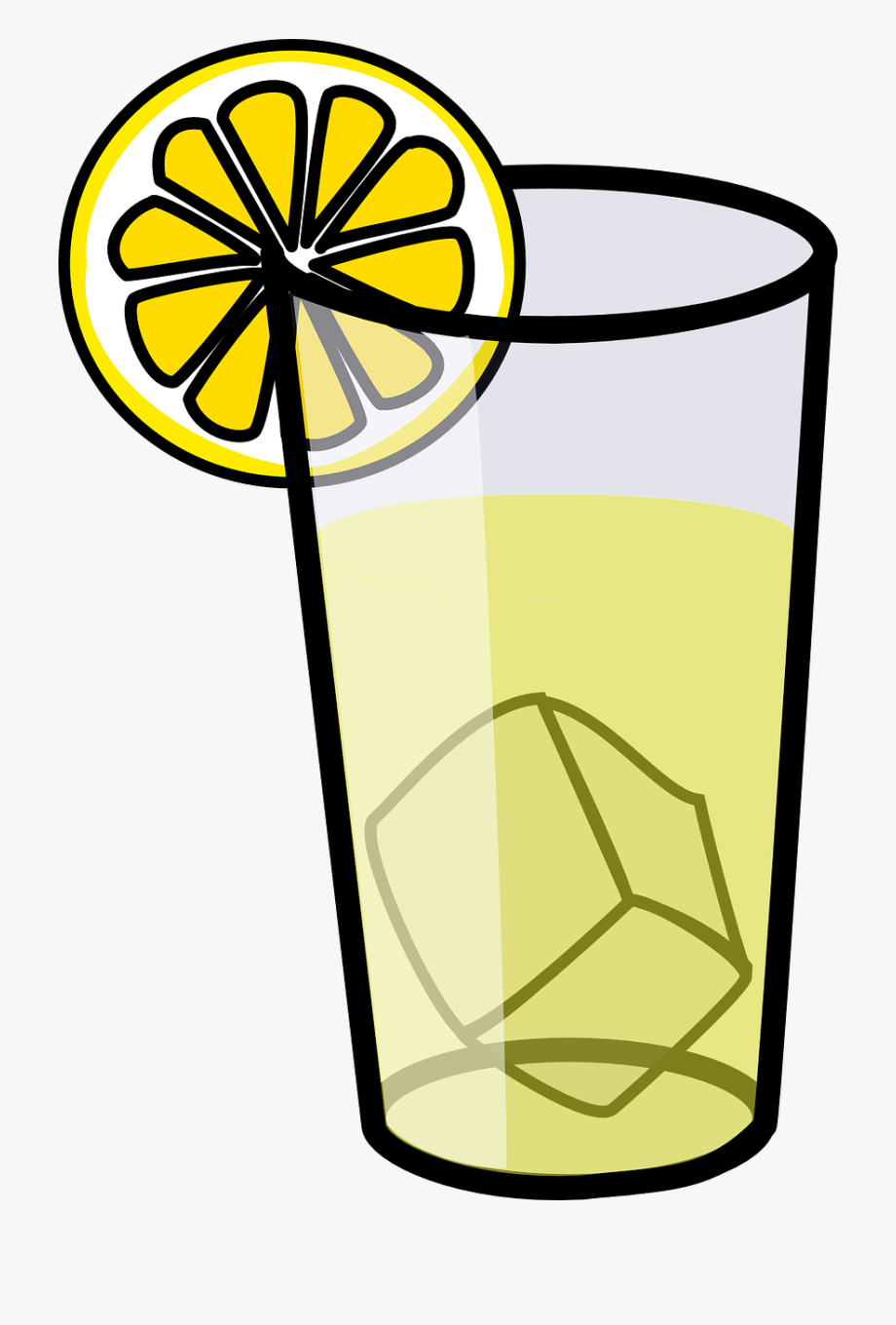 Lemonade Glass Drink Beverage Png Image.