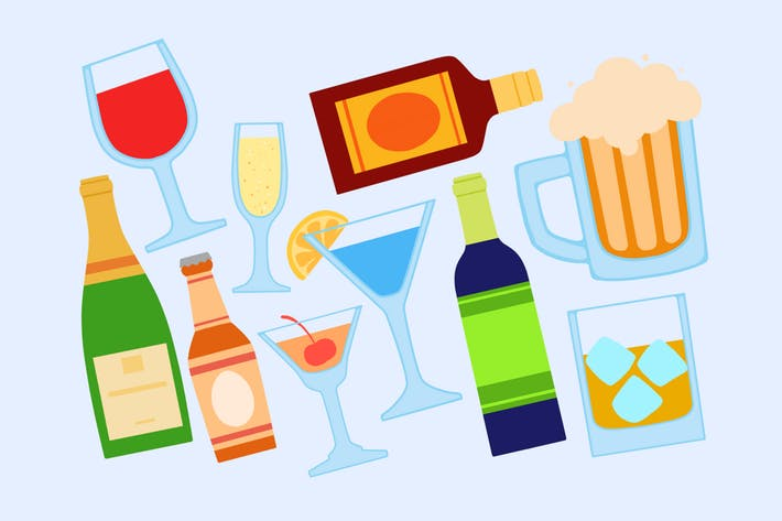 Alcohol Beverages Clipart by Jumsoft on Envato Elements.