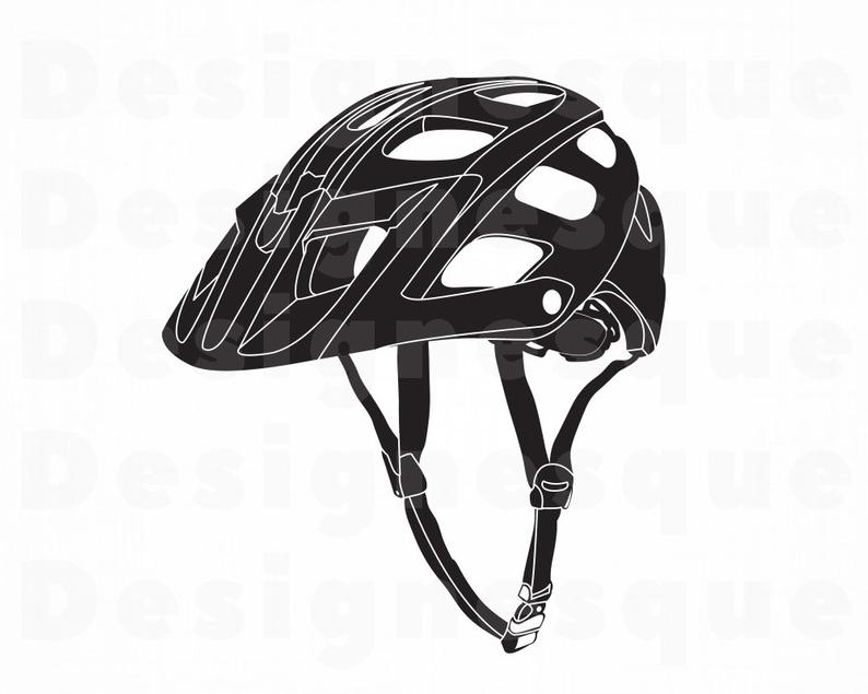 Bicycle Helmet #2 SVG, Biking Svg, Bicycle Helmet Clipart, Bicycle Helmet  Files for Cricut, Cut Files For Silhouette, Dxf, Png, Eps, Vector.