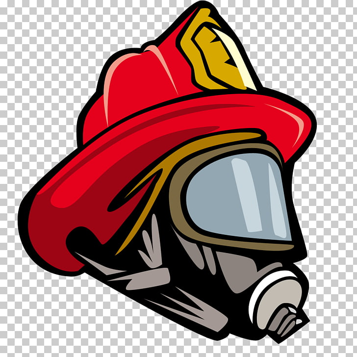 Firefighters helmet Bicycle helmet , Fireman hat, red and gray fire.