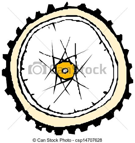 Vector Illustration of Bike wheel.