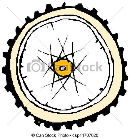 Vector Illustration of Bike wheel.