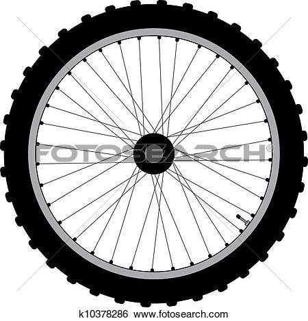 Clip Art of bicycle wheel seamless k14363796.