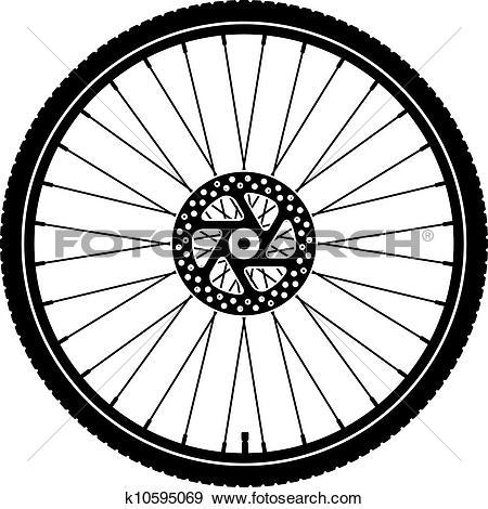 Clip Art of Bike wheel k6371559.
