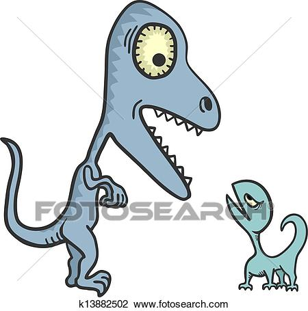 Big and small lizard Clipart.