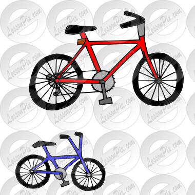 big small bike Picture for Classroom / Therapy Use.