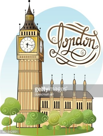 Big Ben, London Clipart Image.