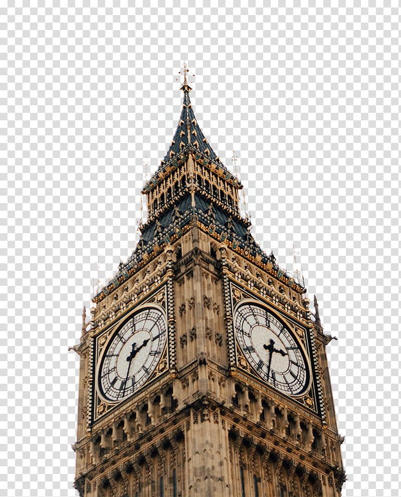 Big Ben Clock, London transparent background PNG clipart.