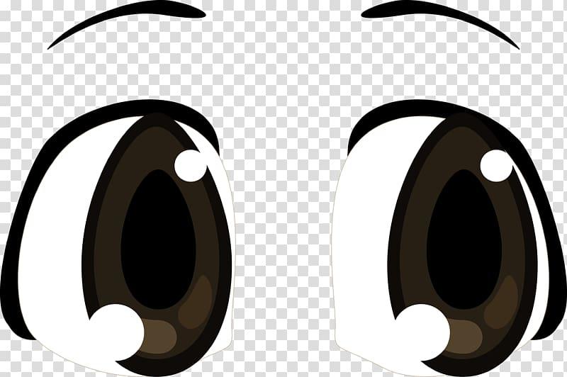 Eyes illustration, Anime Font, Black big eyes diagram.