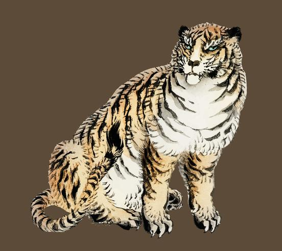 Tiger by K?no Bairei (1844.