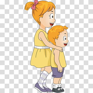 Big Sister Little Brother PNG clipart images free download.