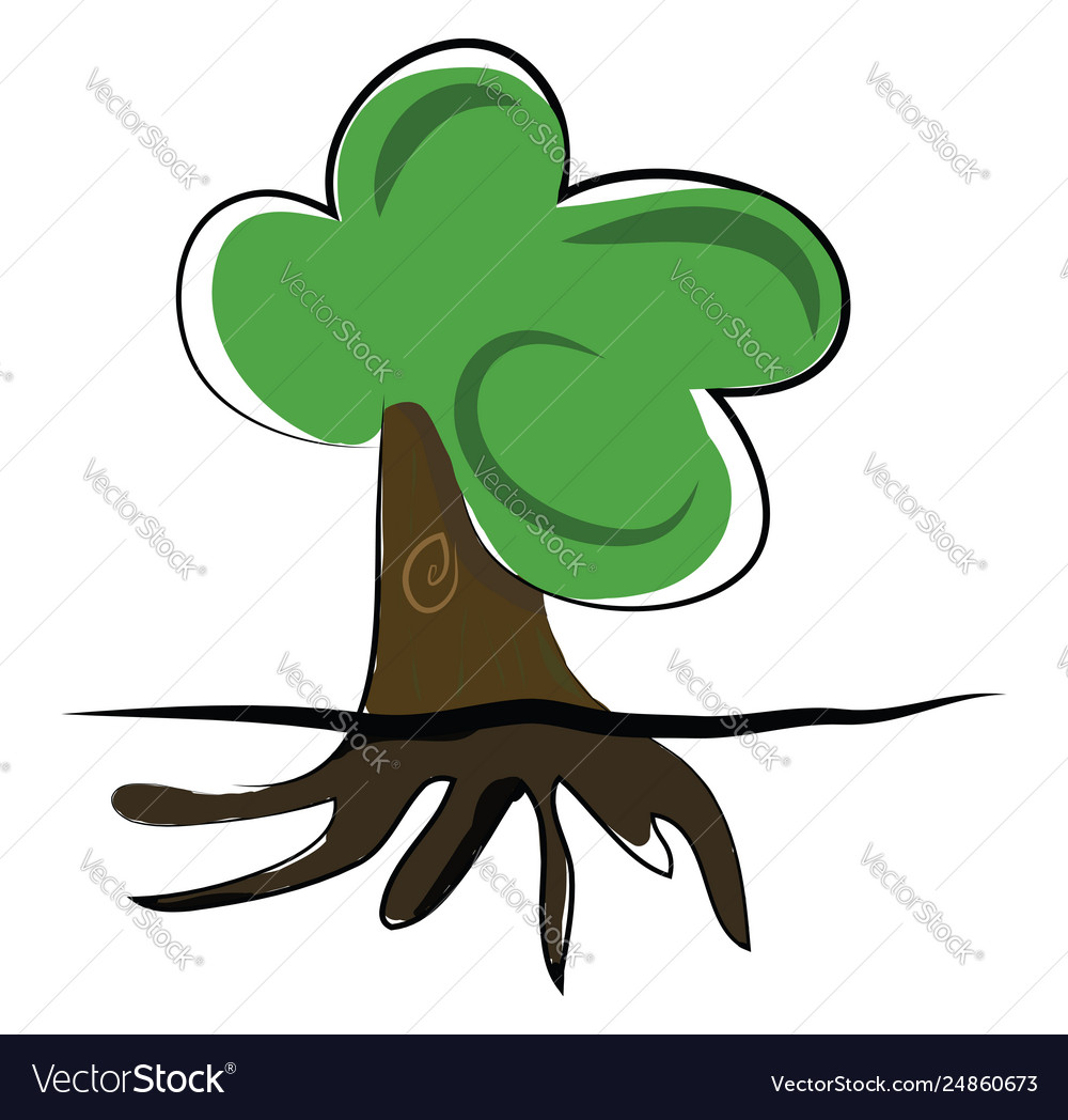 Clipart a big tree with green leaves and.