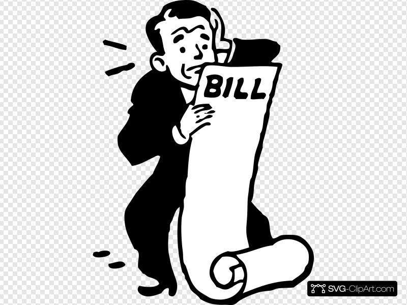 Worried About A Bill Clip art, Icon and SVG.