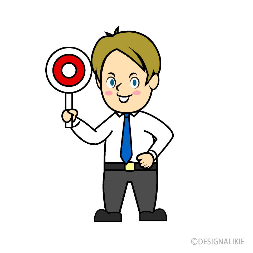 Free Correct Businessman Clipart Image|Illustoon.