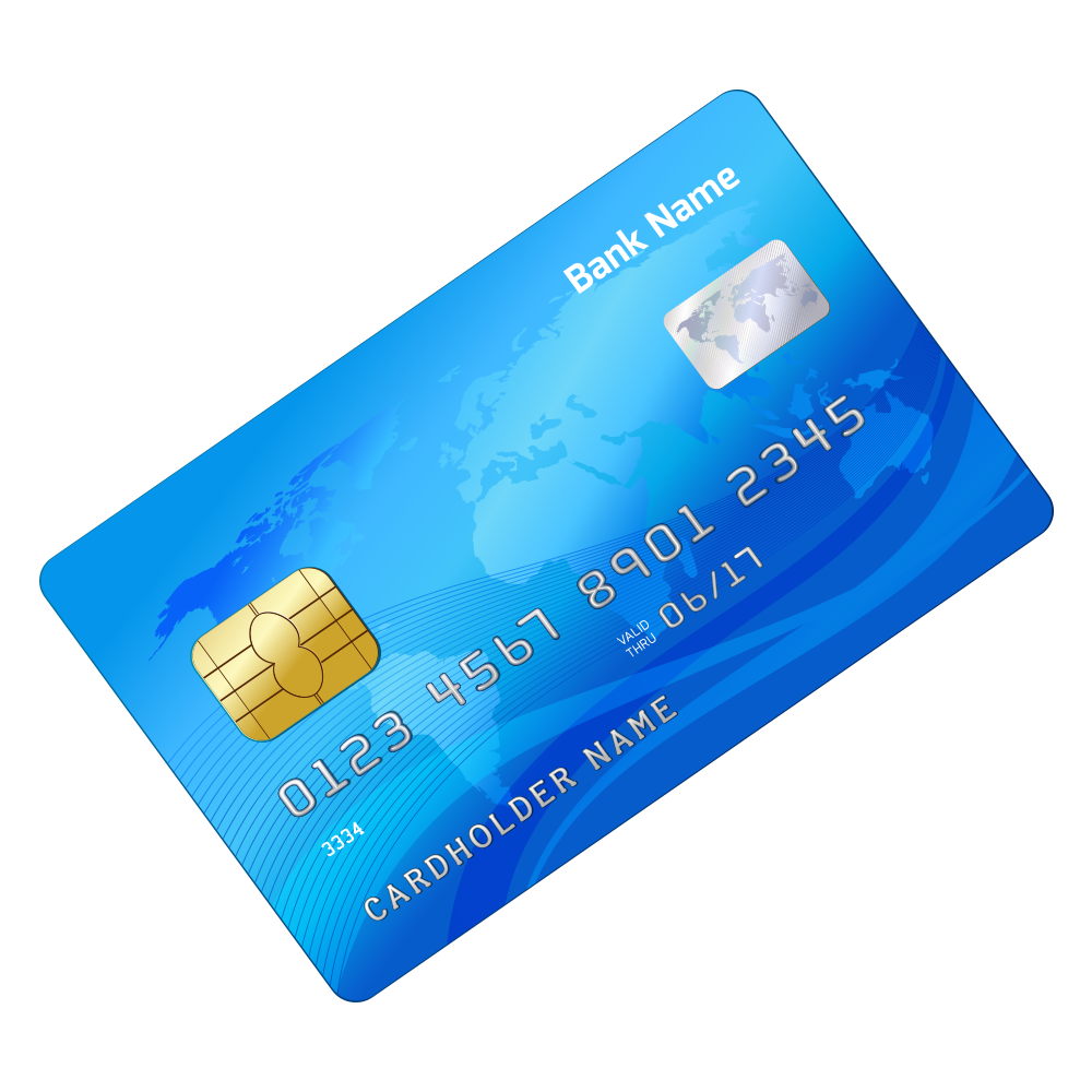 Credit card Bank card ATM card.