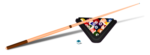 Billiard equipment vector clip art.