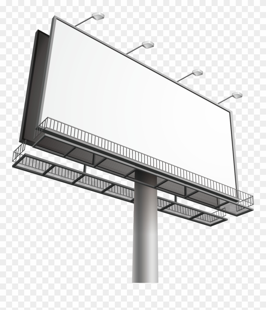 Billboard Out Of Home Advertising Clip Art.