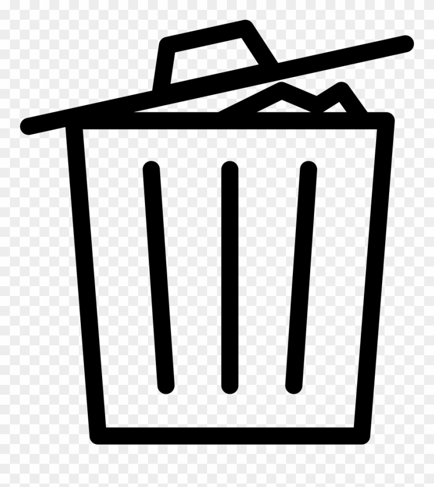 Thin Recycle Bin Delete Garbage Full Comments Clipart.