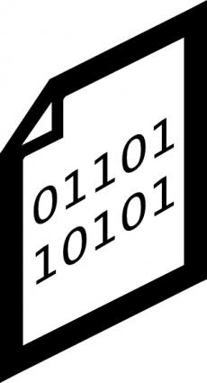 Binary File Icon clip art free vector.