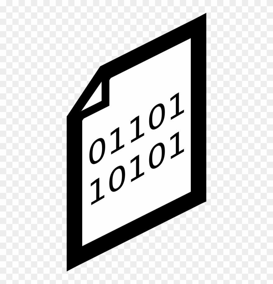 Binary File Clipart (#90964).