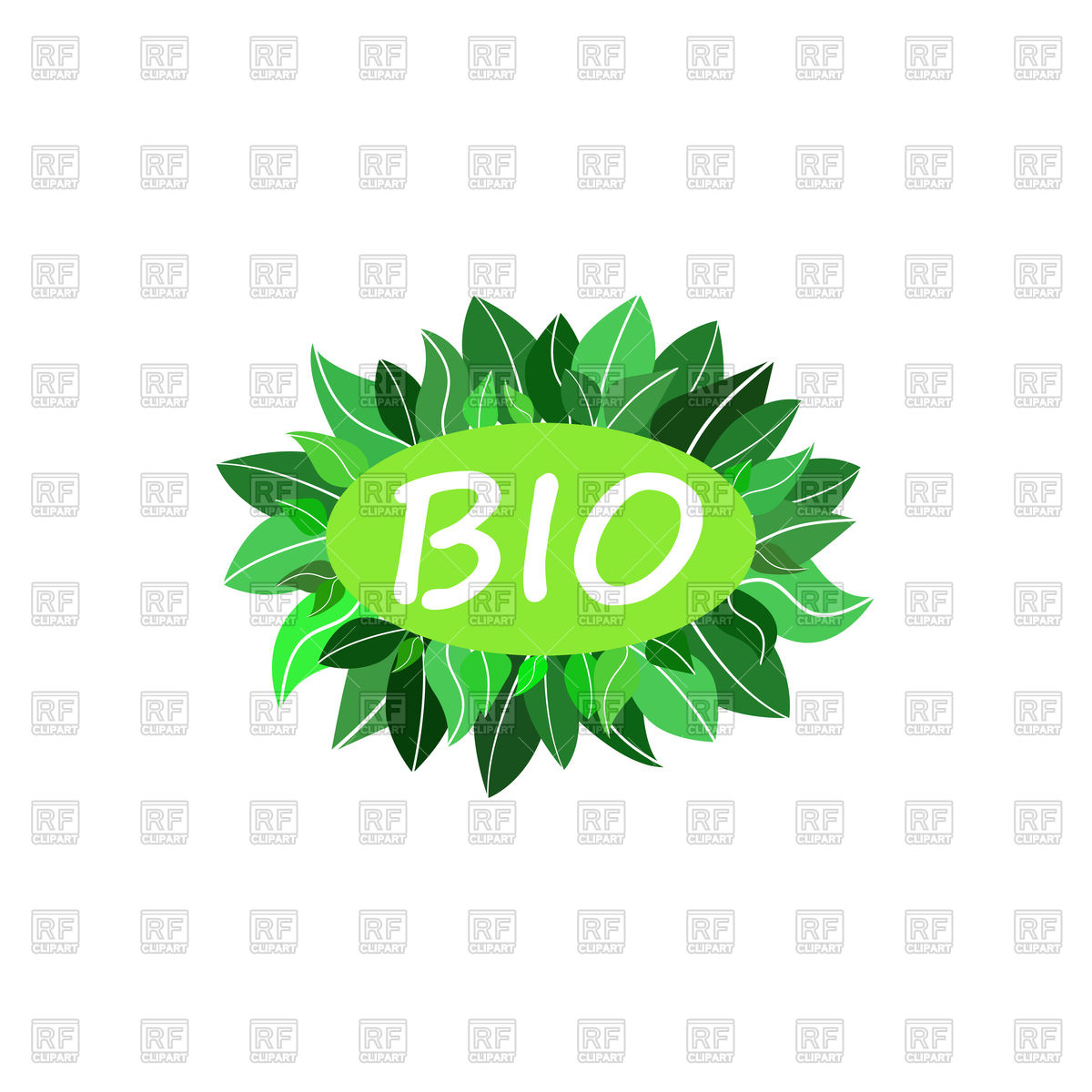 Bio green icon. Vegan, eco, raw, healthy food badge. Stock Vector Image.