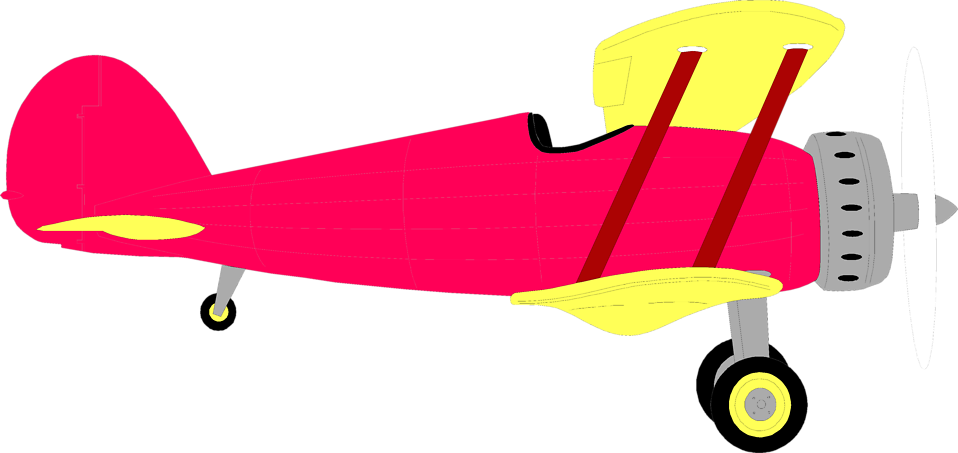 Collection of Biplane clipart.