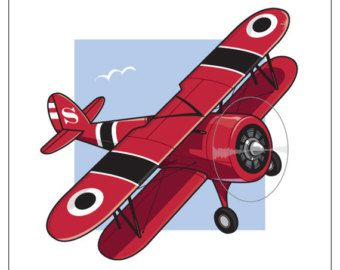 Old Biplanes Clipart #1.