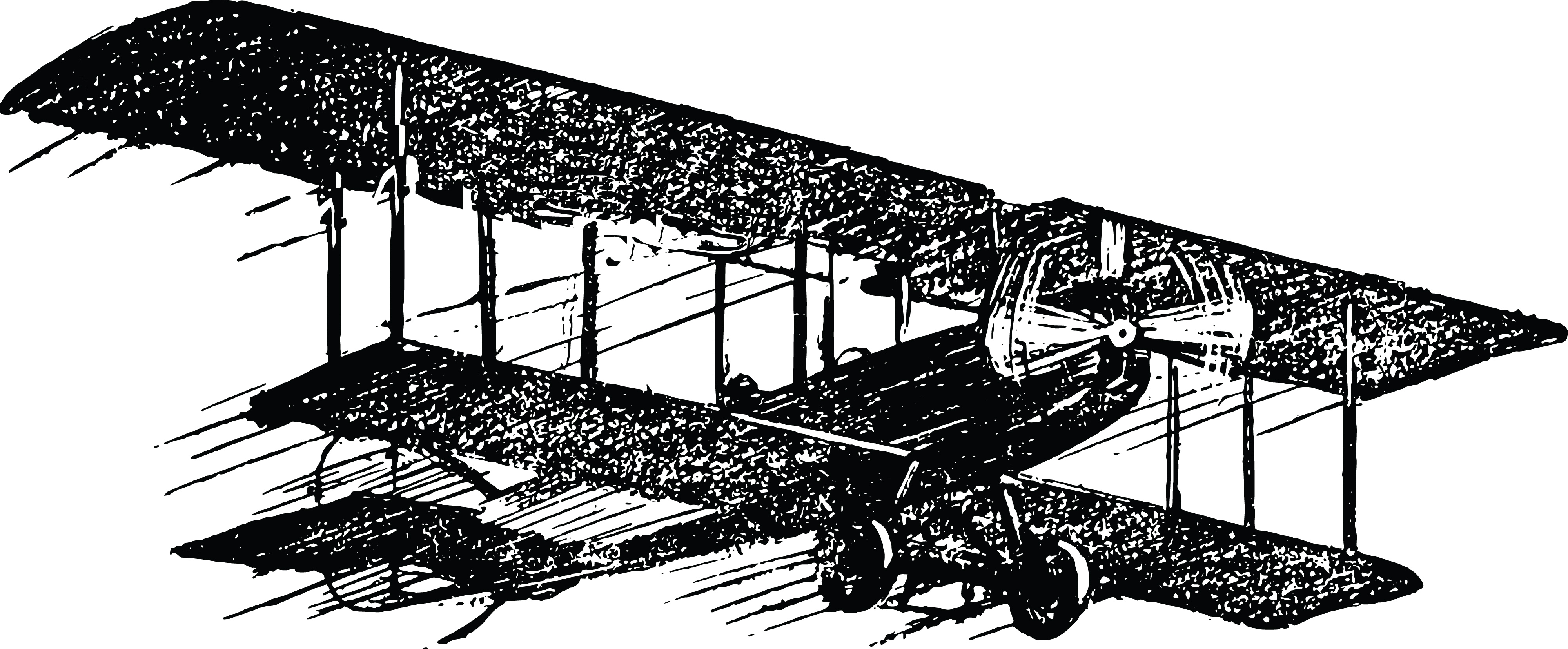 Free Clipart Of a biplane.